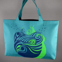 """Sac bleu """"Aqua vert"""" Grand modèle"""