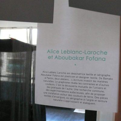 Expérimentations bogolan sérigraphie Alice Leblanc Laroche Aboubakar Fofana