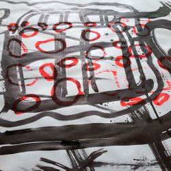 superposition des graphismes et des sérigraphies